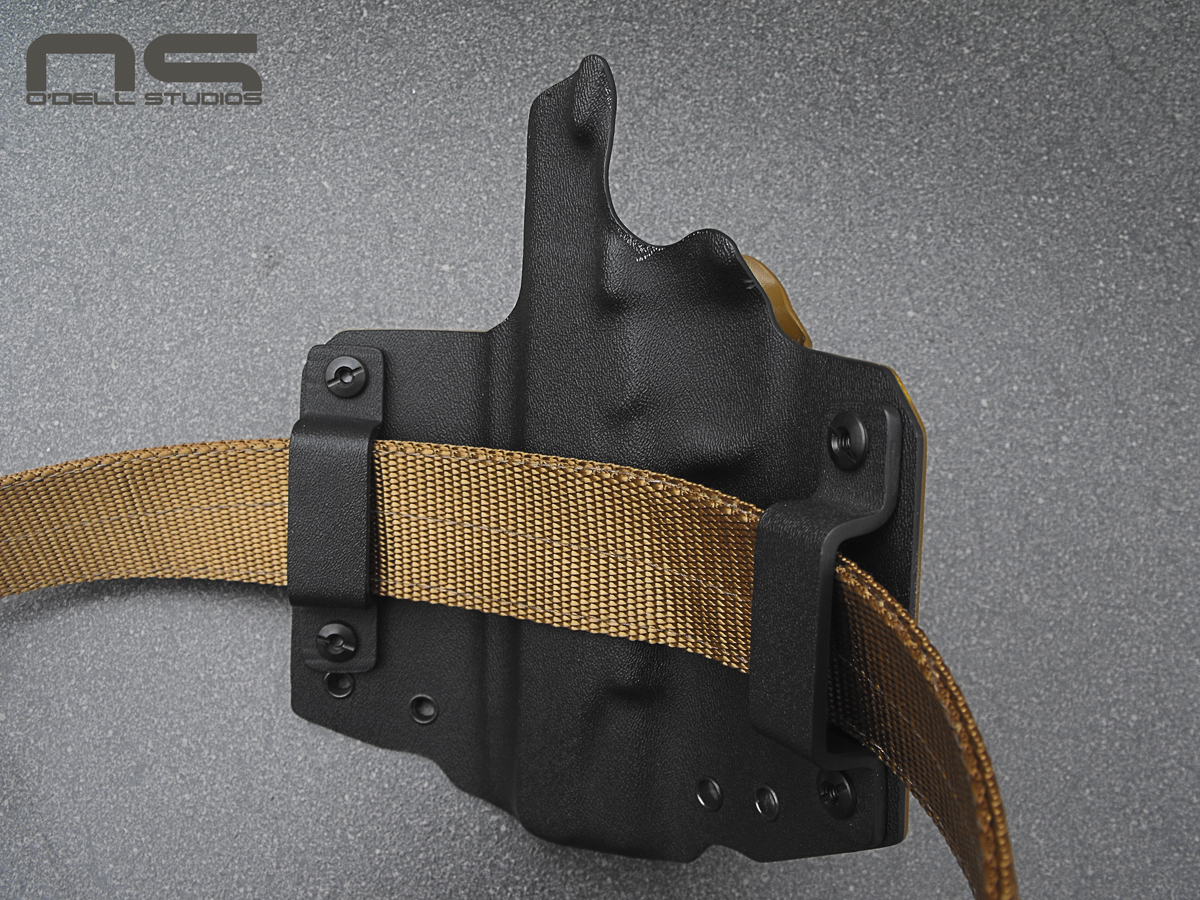 1911 holster on double thickness nylon gun belt