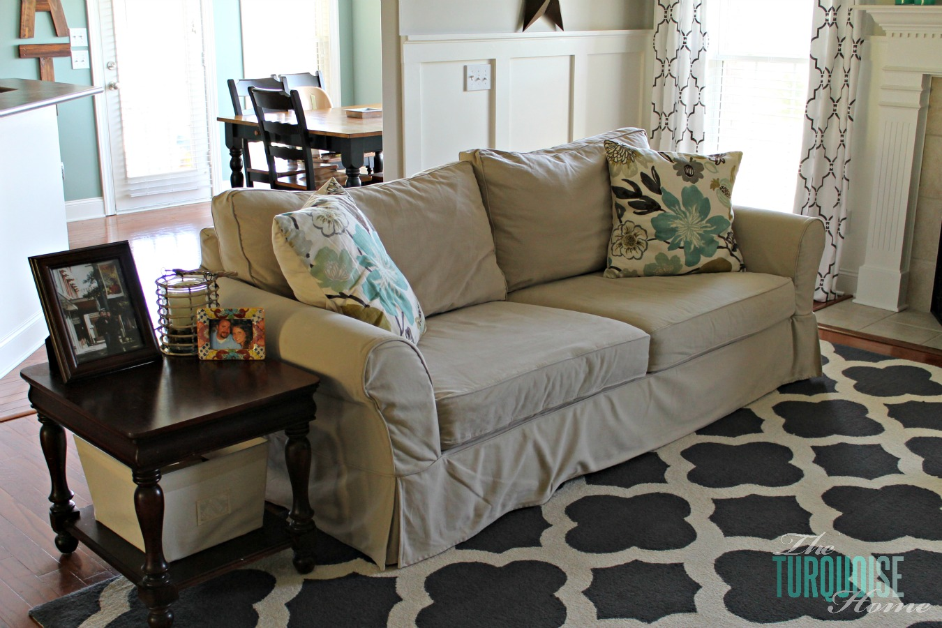 Turquoise Living Room Living Room Makeover Part 7 Final Reveal The Turquoise Home
