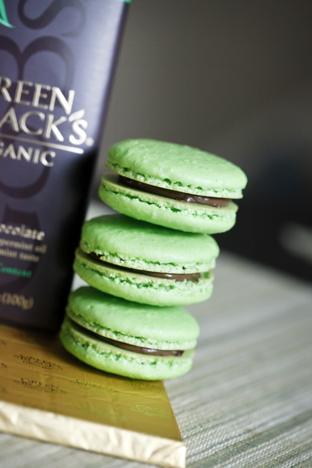 After Dinner Mint Macarons