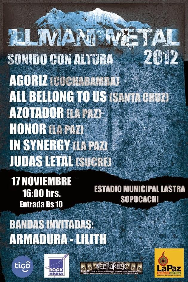 Afiche Illimani Metal 2012