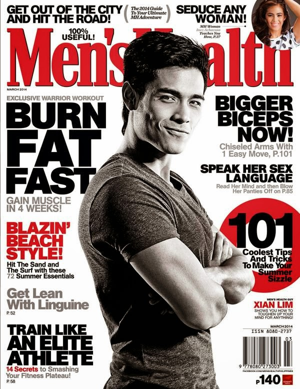 Xian Lim graces Men's Health cover March 2014