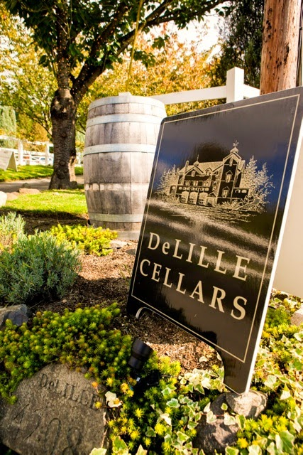 DeLille Cellars Sign - Kent Buttars, Seattle Wedding Officiant
