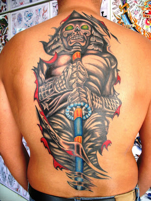 Tattoo de Samurai nas costas