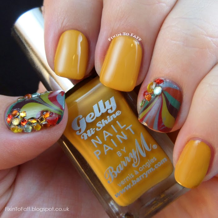 Barry M swatch Mustard