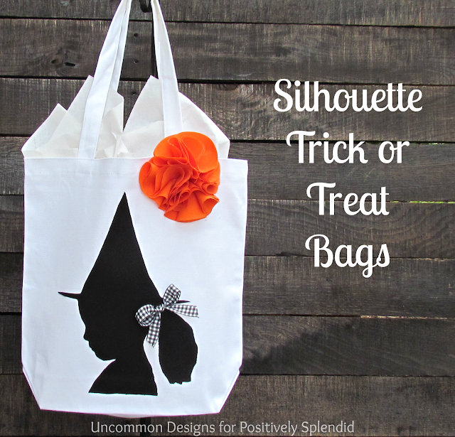 Create an adorable SiIhouette Trick or Treat Bag