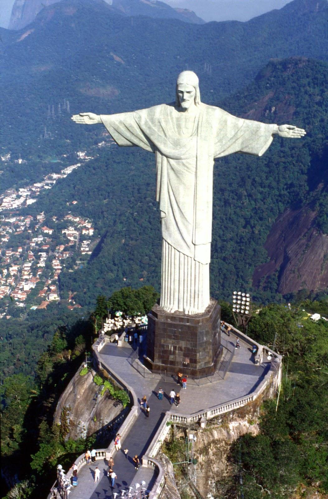 Christ the Redeemer Statue on Corcovado Mountain in Rio de