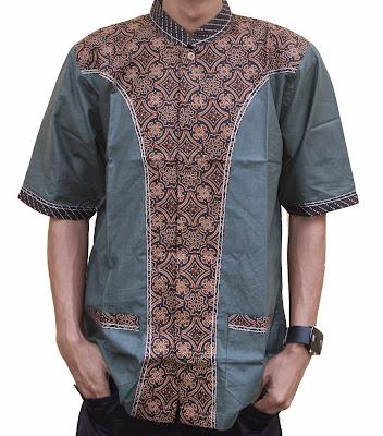 model batik muslim pria
