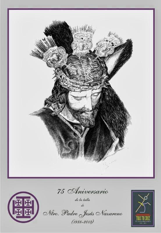 Cartel del 75 aniversario de la talla de Jesús Nazareno