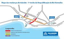 Trânsito será modificado no Rio Vermelho para obra de requalificação do bairro