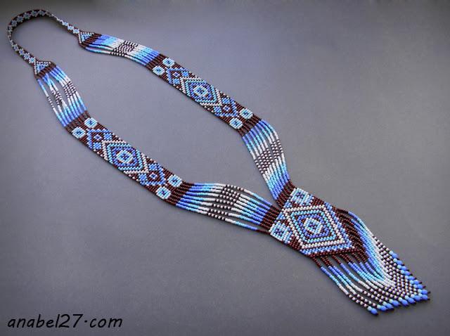 купить этническое колье из бисера гердан гайтан украина