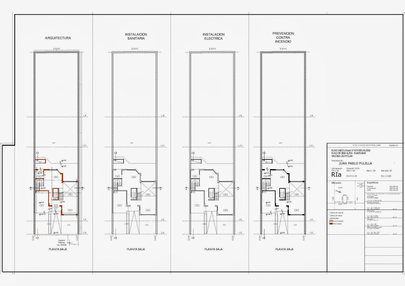 Plano municipal plano nico de obra nueva s resol n 679 for Medidas de un carro arquitectura