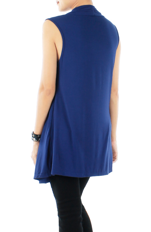 Blue Matrix Longline Stripe Top