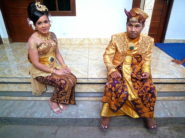 Los novios balineses, en Bali