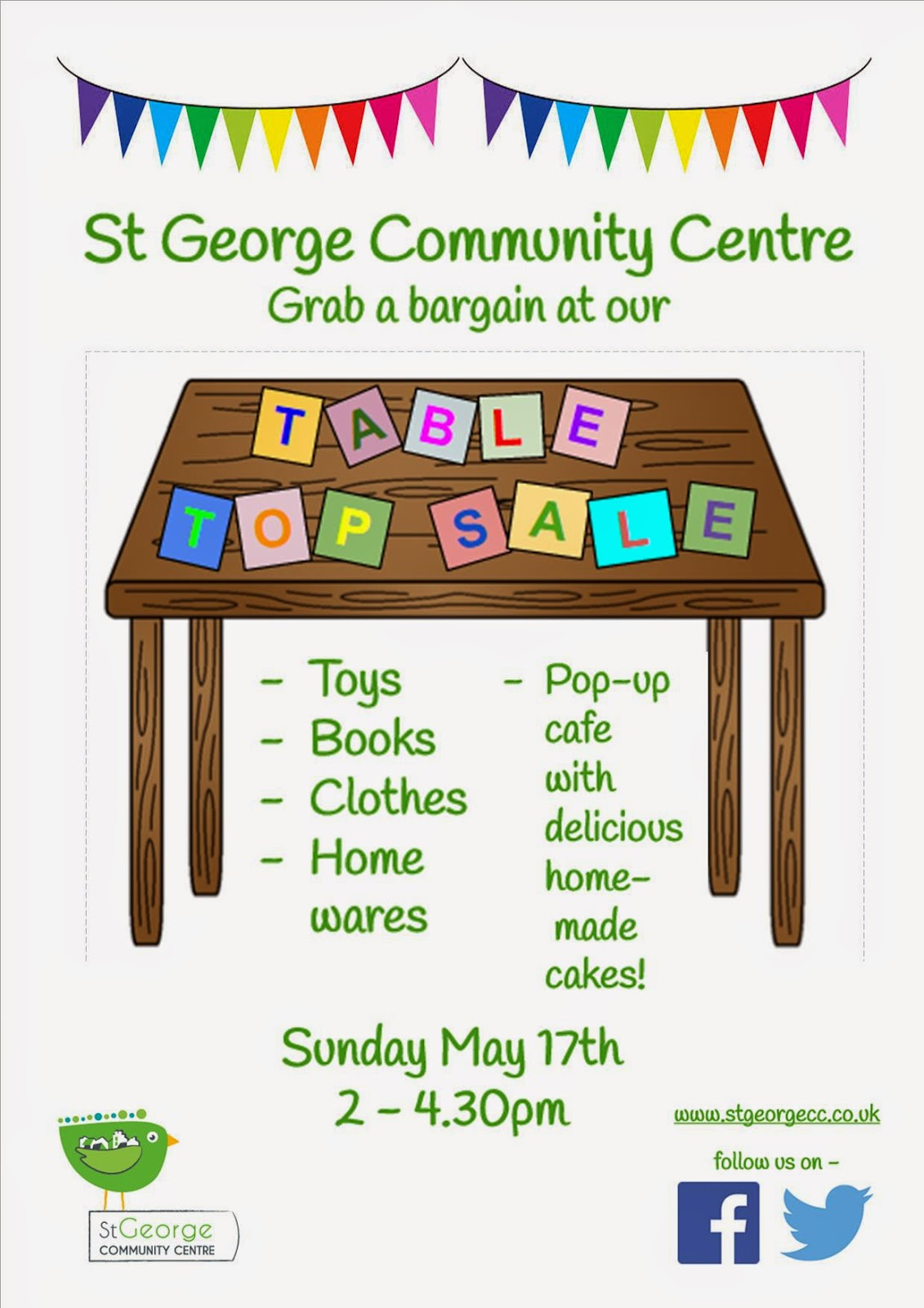 St George Community Centre: Table Top Sale - 17 May 2015