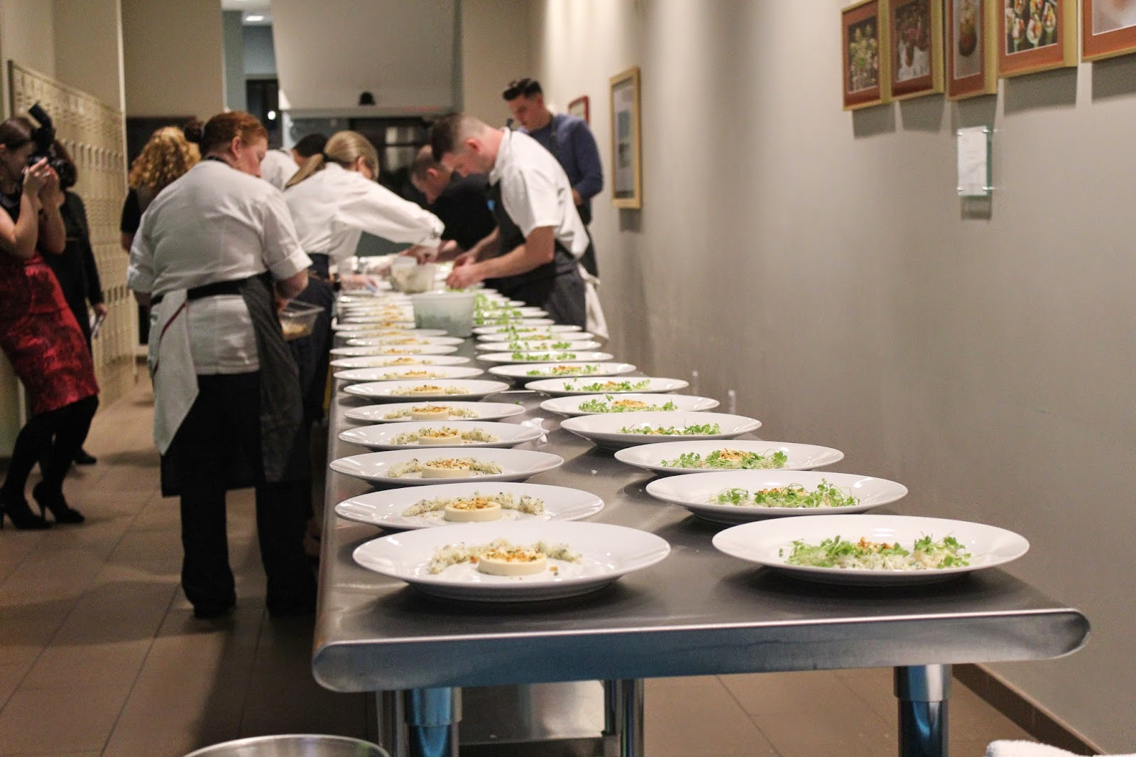 Chefs plating at Overkill 2014