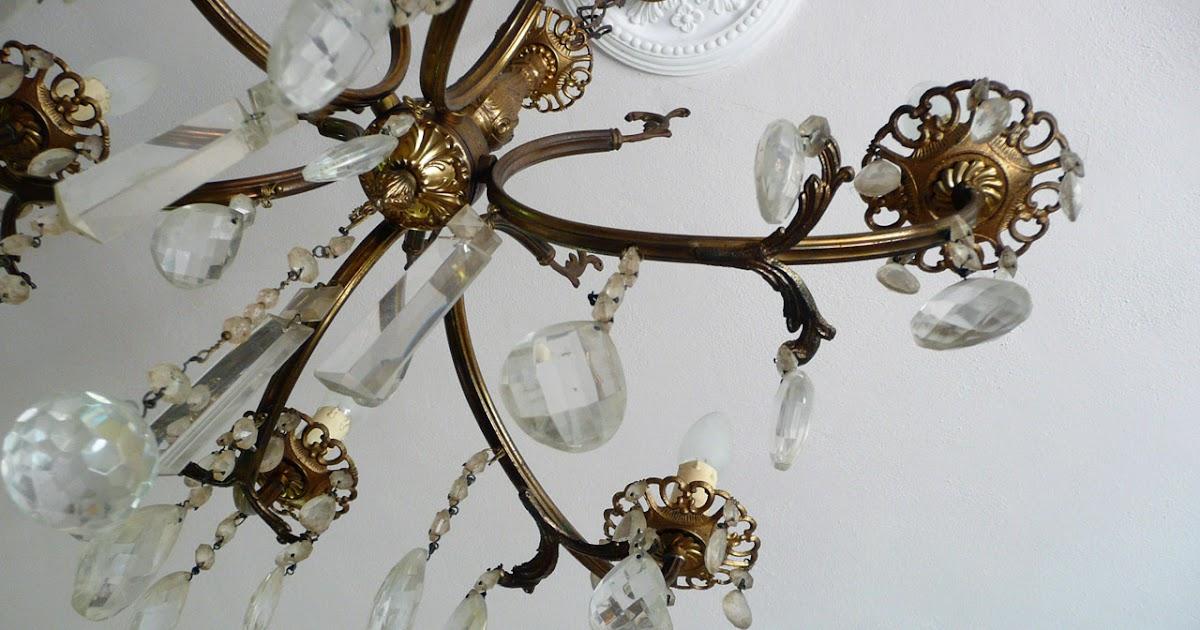 decomondo: Rinnovare un lampadario vintage a gocce