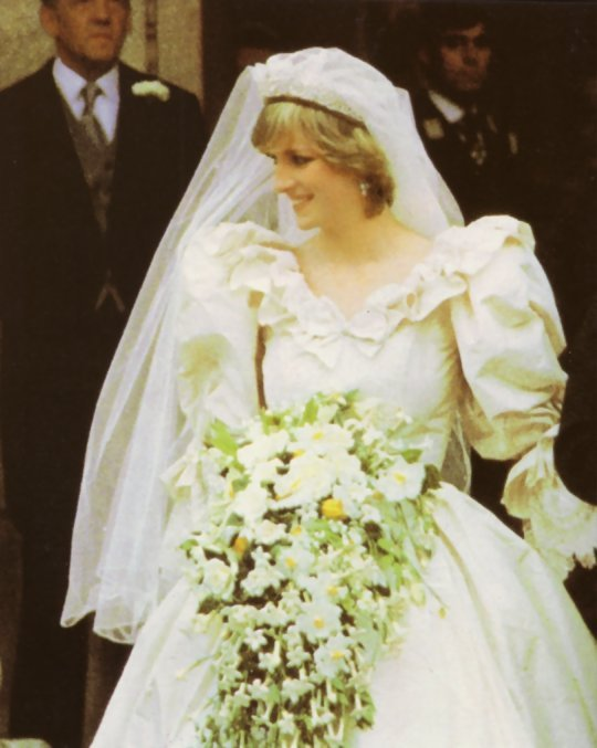 princess diana wedding dress train length. II royal wedding gown was