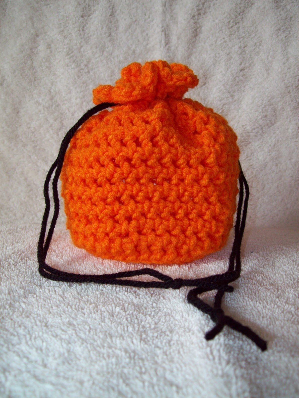 Stitchin' the Night Away: Crochet Mini Drawstring Bag