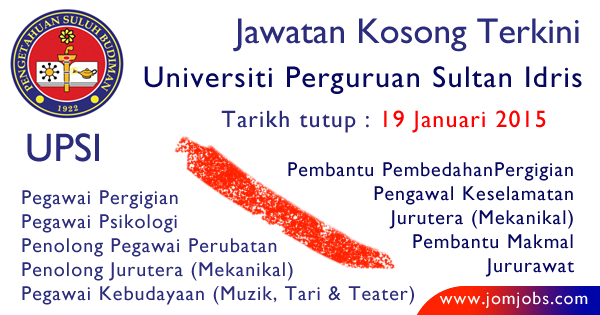 Jawatan Kosong UPSI Terkini 2015