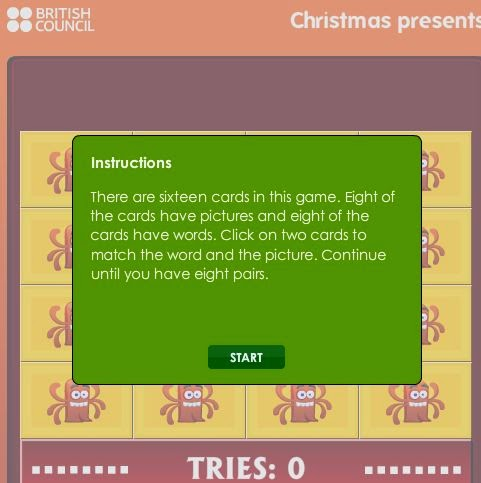http://learnenglishkids.britishcouncil.org/en/word-games/find-the-pairs/christmas-presents