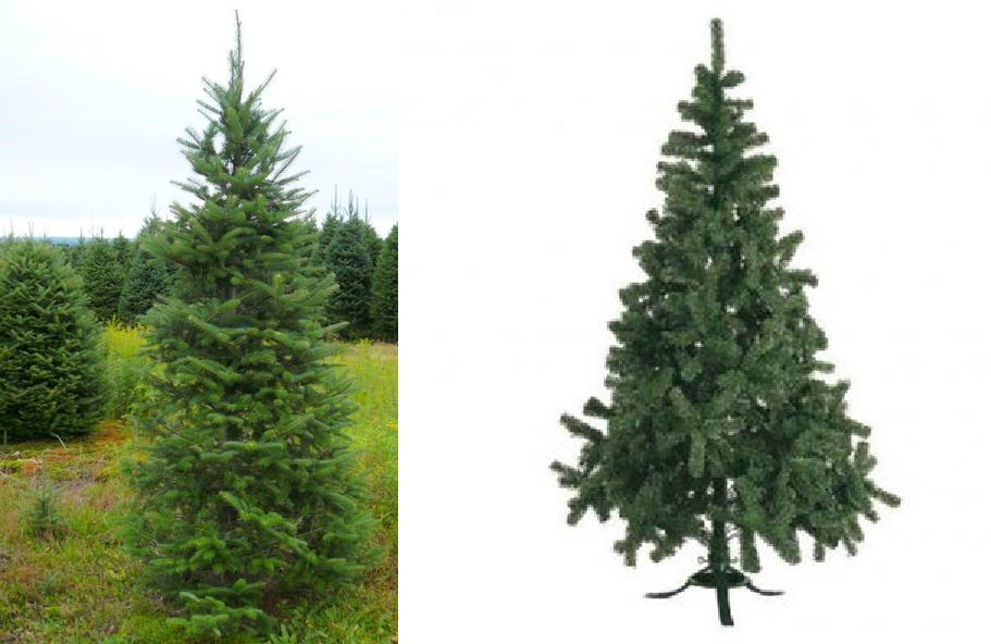 Man arboles de navidad natural o artificial - Arbol artificial de navidad ...