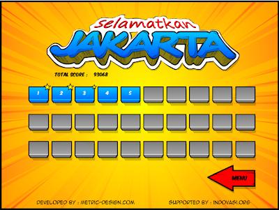 Pilihan level Game Jokowi-Ahok : Selamatkan Jakarta