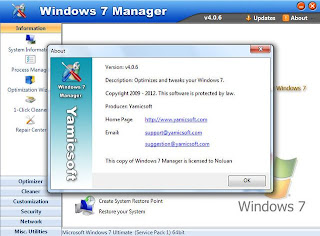 Yamicsoft Windows 7 Manager 4.0.6 Full Keygen