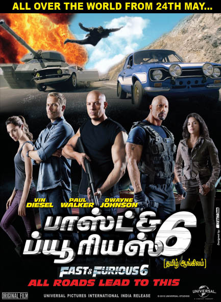 Watch Fast And Furious 6 (2013) Tamil Dubbed BluRay Rip Original Tamil Audio Full Movie Watch Online For Free