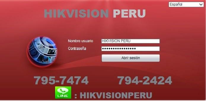 HIKVSAION PERU MODO CLIENTE WEB