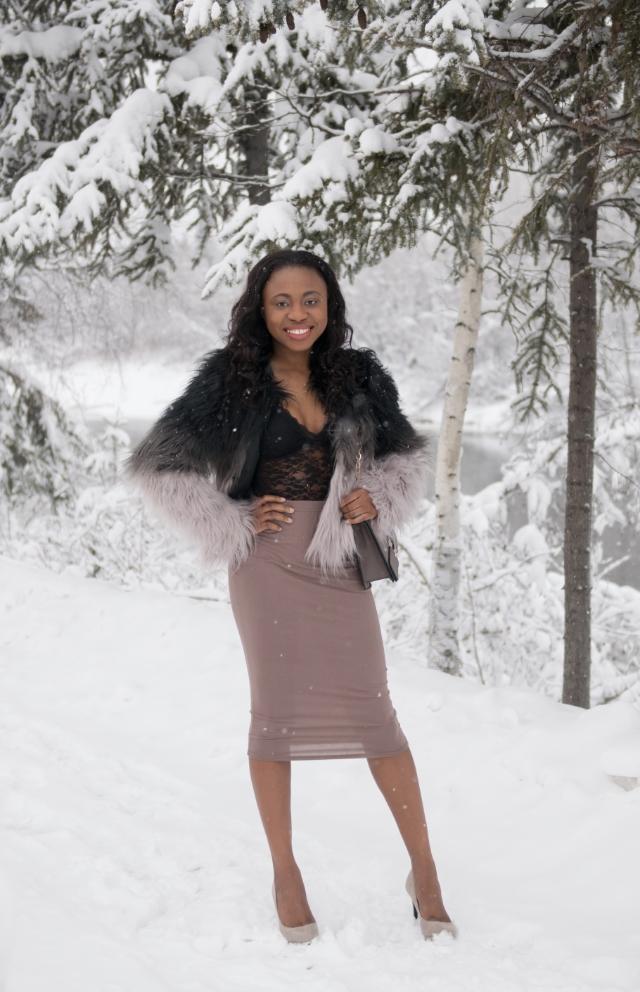 bodycon midi skirt, Fashion blogger, Street style blogger, Fashion bloggers to follow, faux fur, faux fur coats, faux fur, faux fur vests, faux fur comforter, faux fur coat, faux fur jackets