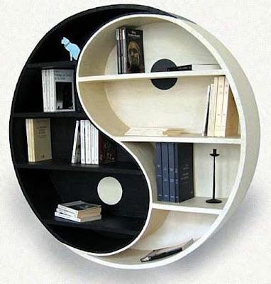 diseño estante ying yang