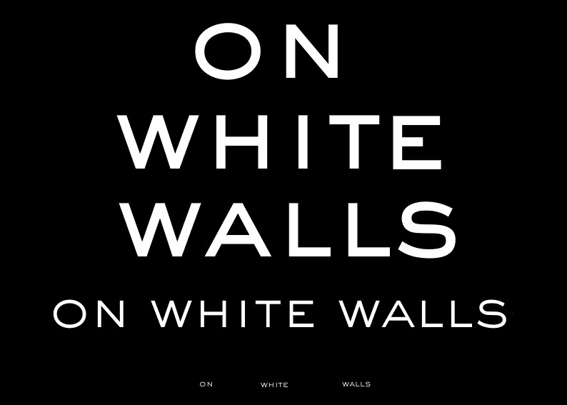 On white walls