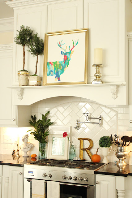 Fall-ing into Christmas with New Abstract Deer Silhouette Art! (a Giveaway!)