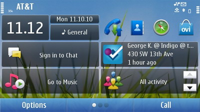 Foursquare for Symbian comes with Homescreen Widget