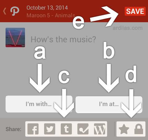 Form share moment musik - Cara Bermain dan Menggunakan Aplikasi Path - Android