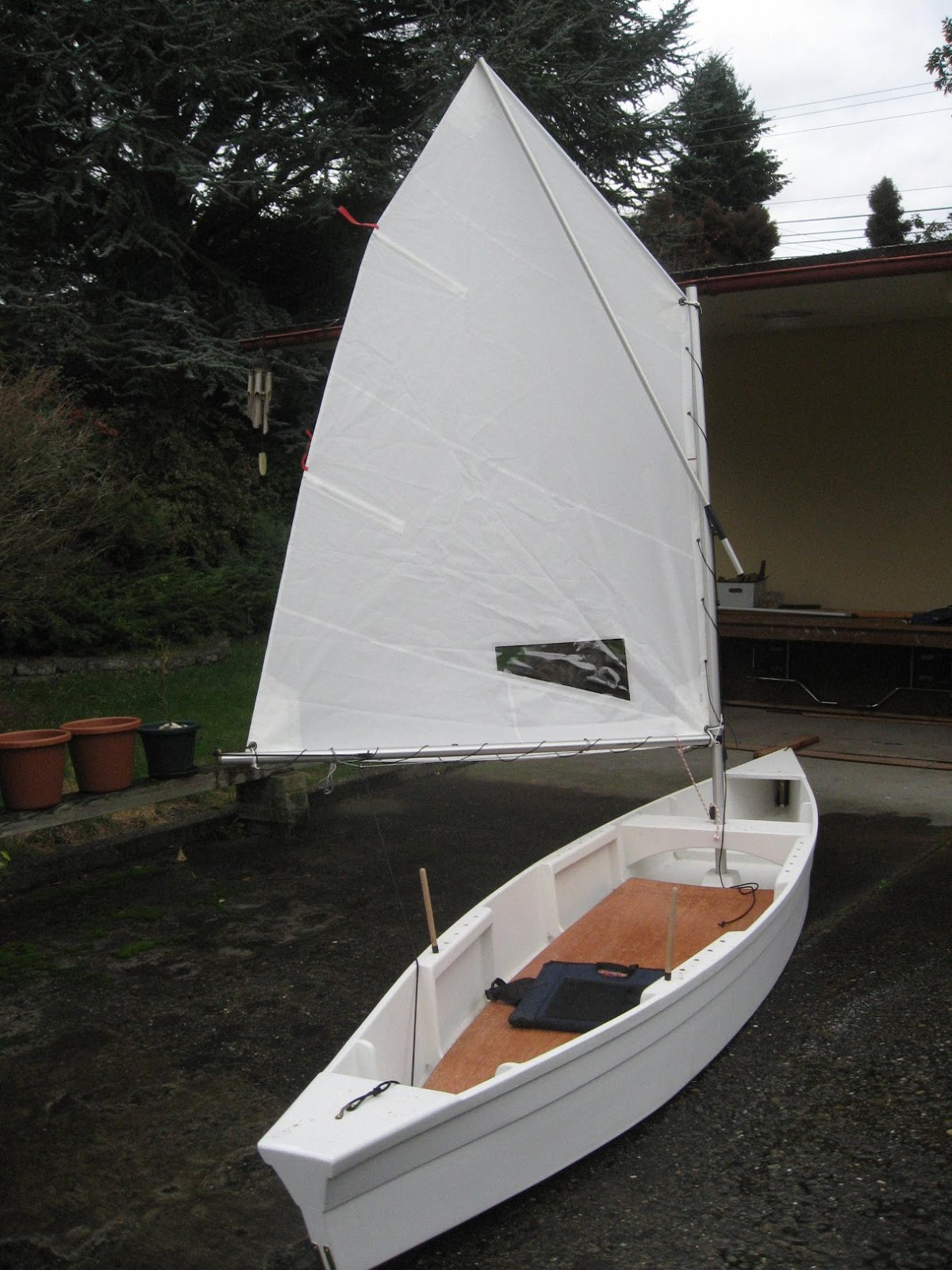 West Mersea Duck Punt Sailboat Build Blog | Foggy Sailing