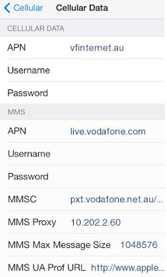 AAPT APN Settings for iPhone 6