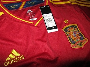 detail jersey spanyol 2012