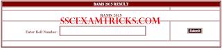 CGVyapam BAMS B. Sc. Result 2015