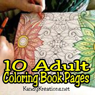 10 Adult Coloring Book Page Printables