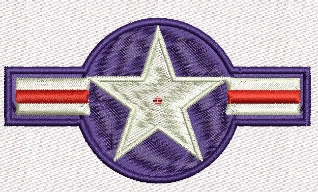 fuerza aerea usa bordado