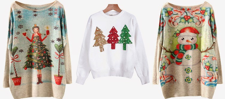 Sheinside Christmas sweaters
