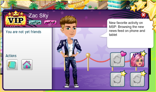 how to create a new look for friend on moviestarplanet