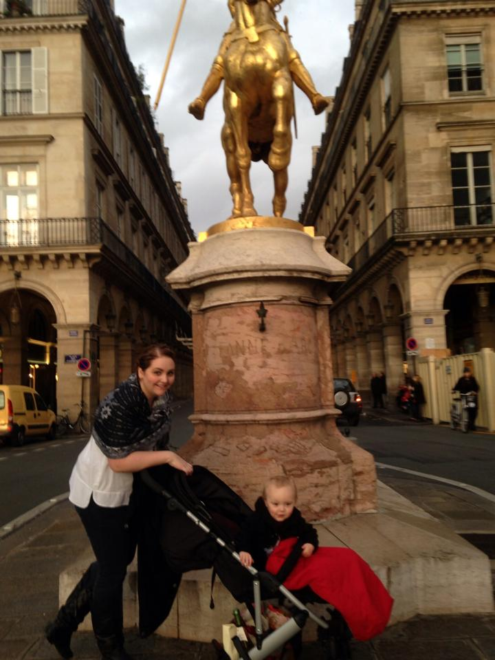 Miss P and I in Paris