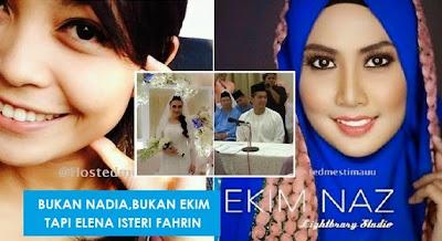 Terkini Wajah sebenar dan nama isteri Fahrin Ahmad