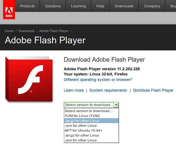 how to get adobe flash player to work