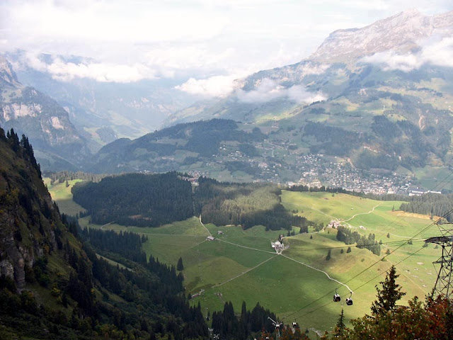 Lush and green alpine valley