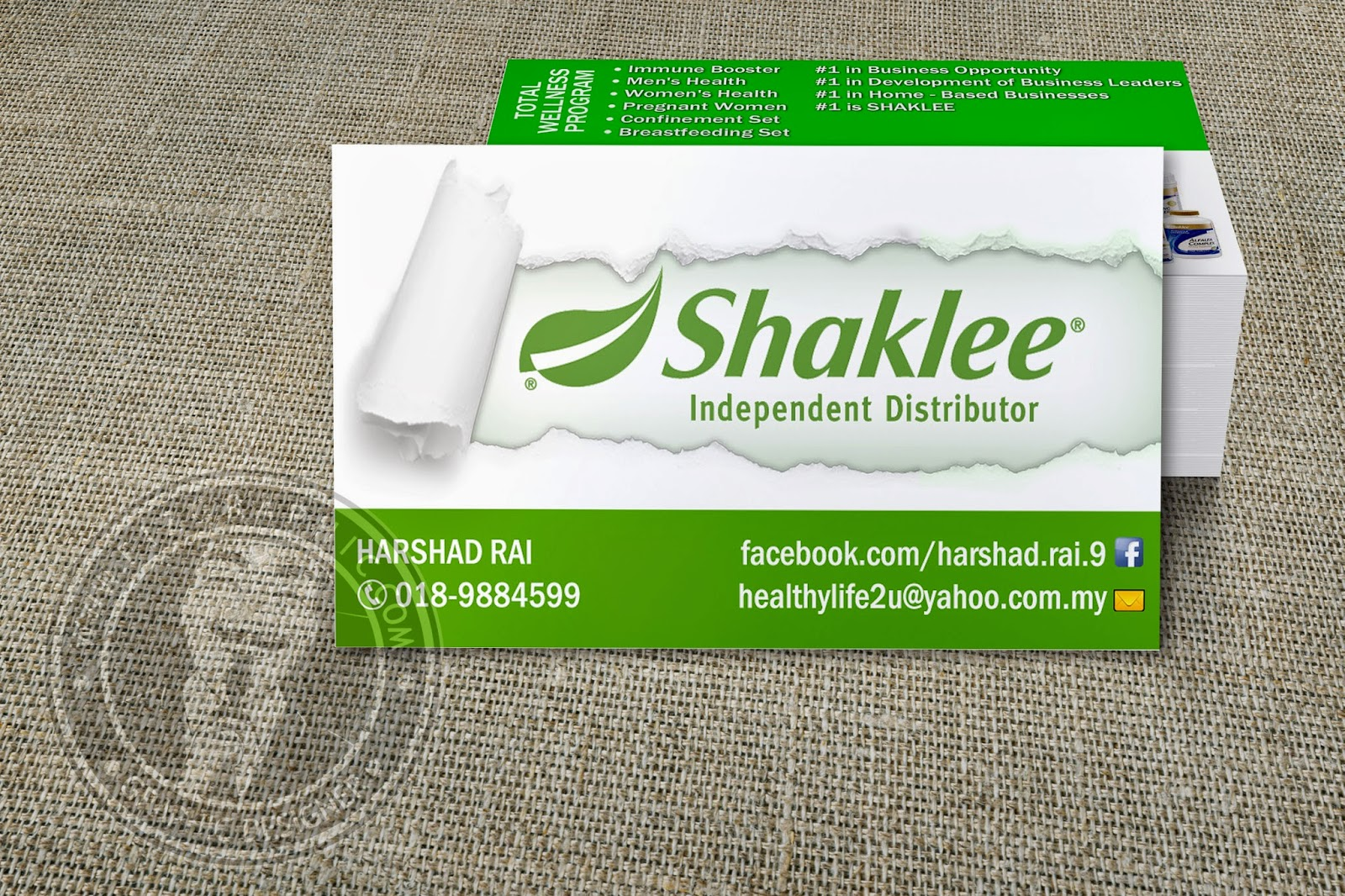 Fizgraphic design printing business card 80 for Shaklee business cards