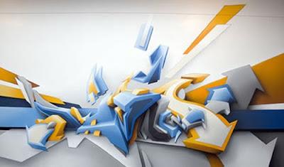 3D, Graffiti, http://graffityartamazing.blogspot.com/