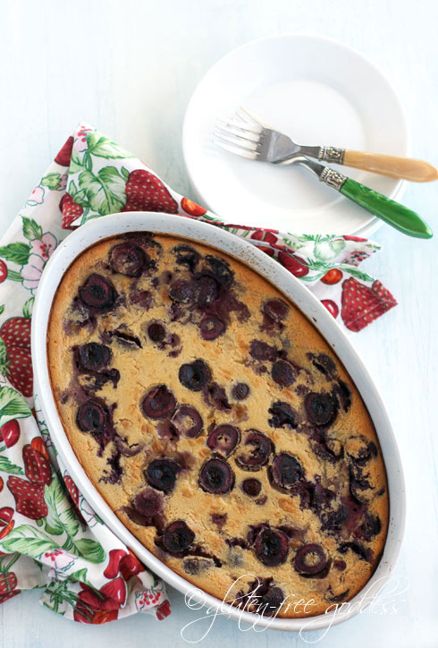 Gluten-free dessert is solved. A luscious cherry clafoutis, no sugar.